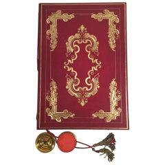 19th Century German Baronship Document, Archduke Ludwig III of Hessen