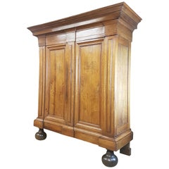 19th Century German Baroque Style Walnut Armoire