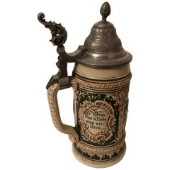 19th Century German Beer Stein