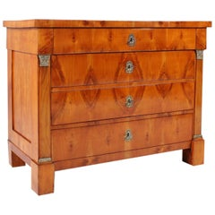 19th Century German Biedermeier Commode, Chest of Drawers Cherrywood, circa 1820