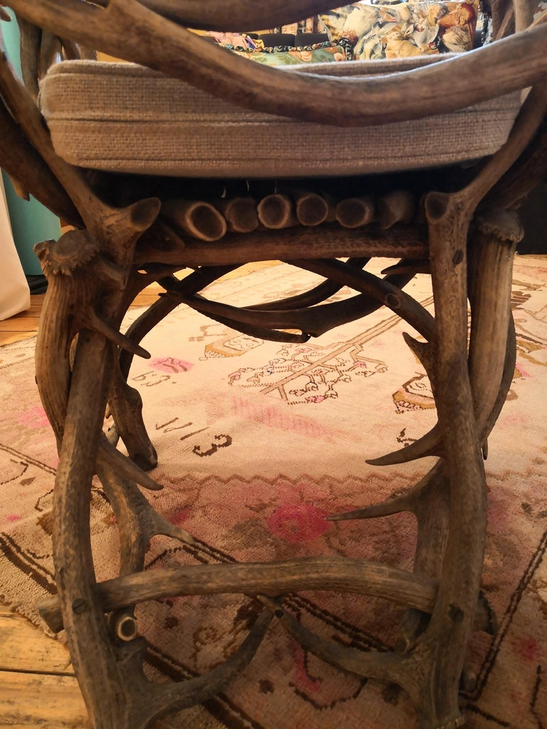 19th Century German Black Forest Antler Trophy Armchair For Sale 7