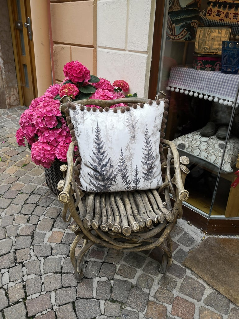 19th Century German Black Forest Antler Trophy Armchair For Sale 4