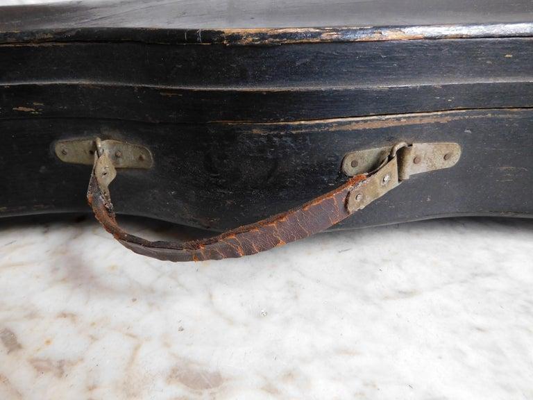 19th century german black wood violin case for sale at 1stdibs. Black Bedroom Furniture Sets. Home Design Ideas