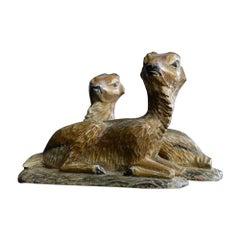 19th Century German Folk Art Deer Figures