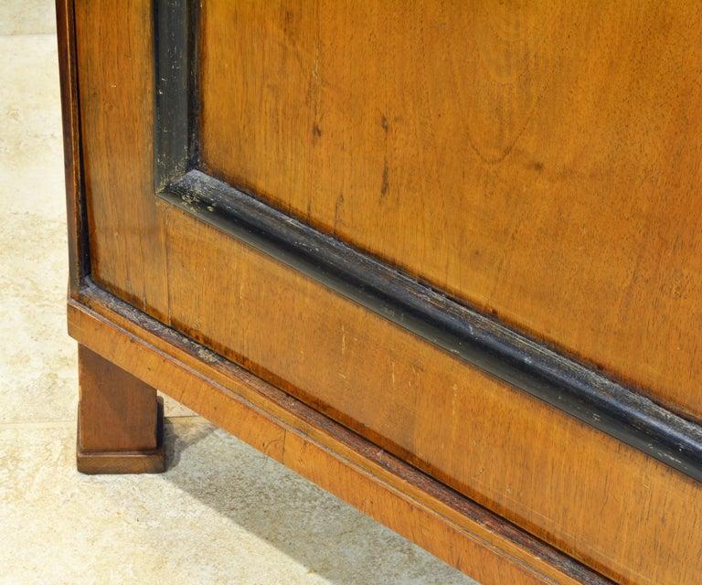 19th Century German Fruitwood and Ebonized Biedermeier Two-Door Book Case For Sale 1