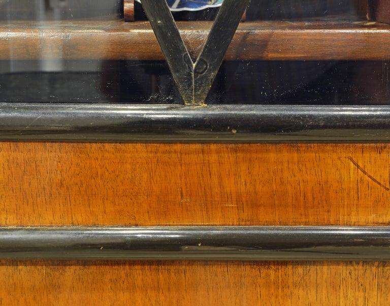 19th Century German Fruitwood and Ebonized Biedermeier Two-Door Book Case For Sale 2