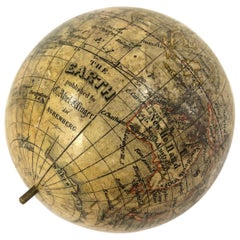 19th Century German Miniature Pocket Terrestrial Globe