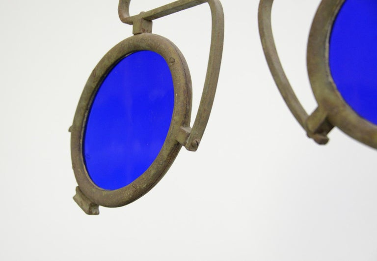 Wrought Iron 19th Century German Opticians Trade Sign For Sale