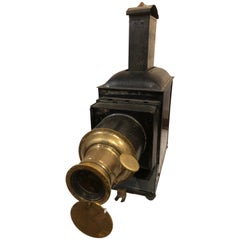 "19th Century German Polished Brass ""Magic Lantern"" Image Projector"