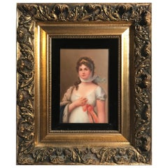 19th Century German Porcelain Plaque Queen Louise of Prussia