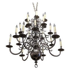19th Century German Silver Chandelier from France