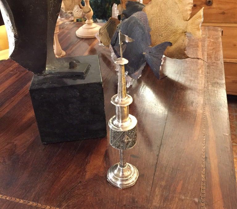19th Century German Silver Filigree Spice Tower Judaica Havdalah Besamin For Sale 9