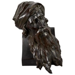 19th Century German Terracotta Bust of Bearded Jew by Paul Ludwig Kowalczewski