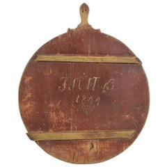 19th Century German, Wooden Chopping or Cutting Board