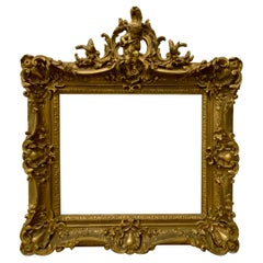 19th Century Gilded and Sculpted Gesso Frame