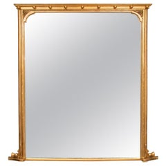 19th Century Gilded Overmantle wall Mirror