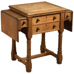 19th Century Gillows Metamorphic Oak Work Table