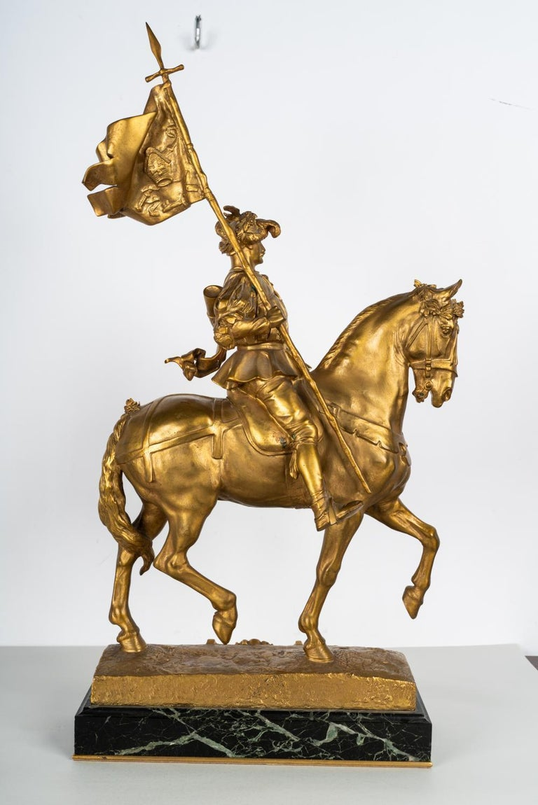 19th Century Gilt Bronze by Emmanuel Fremiet In Good Condition For Sale In Los Angeles, CA