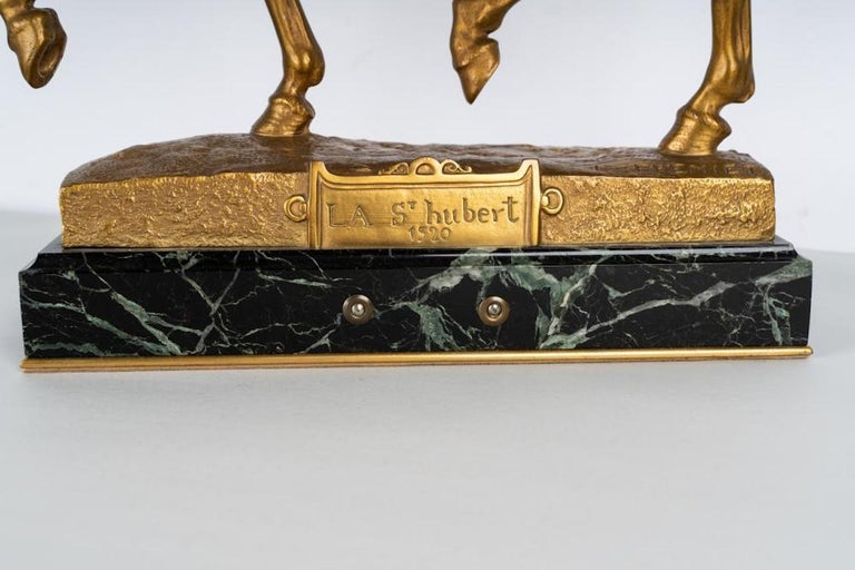 19th Century Gilt Bronze by Emmanuel Fremiet For Sale 1