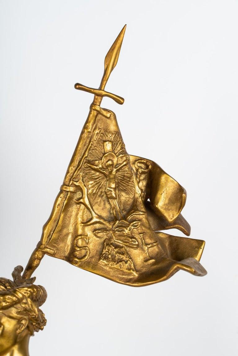 19th Century Gilt Bronze by Emmanuel Fremiet For Sale 2