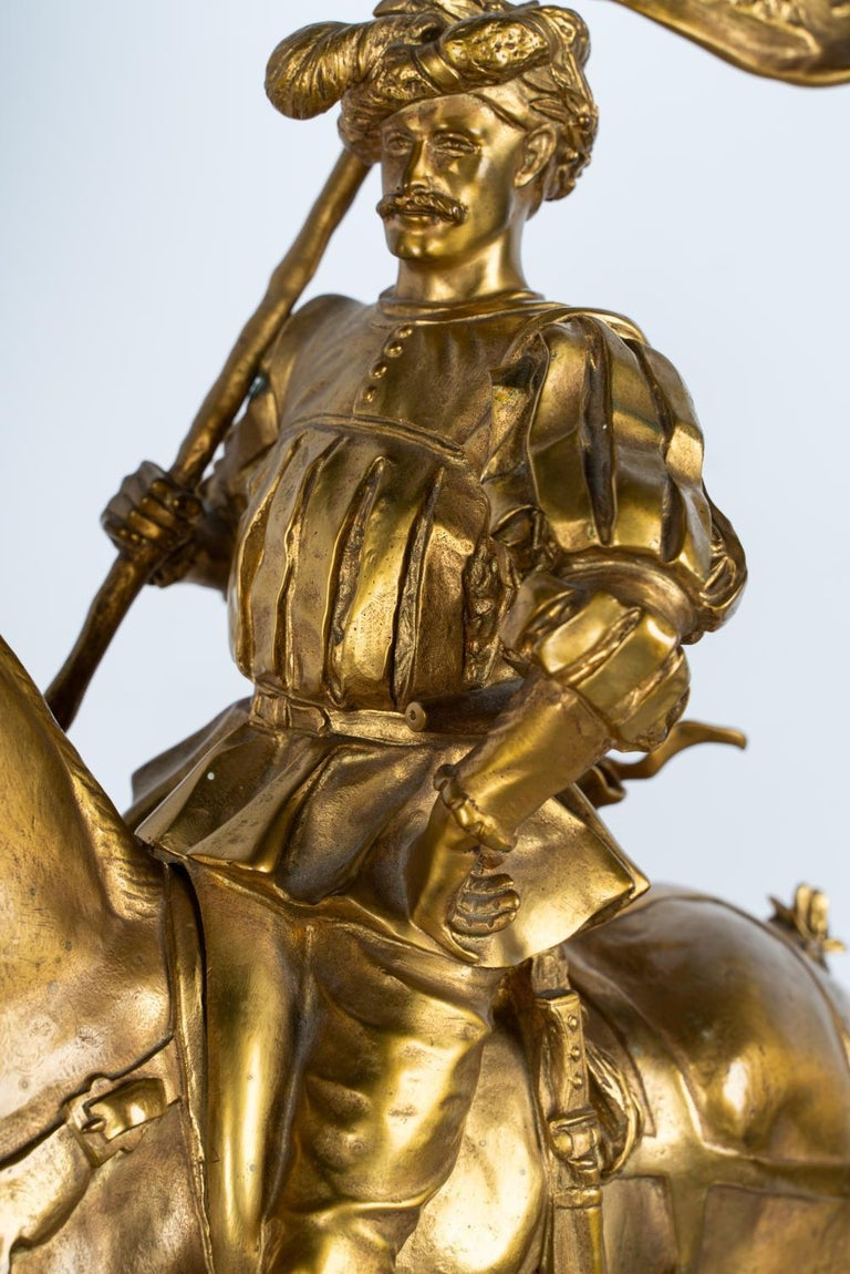 19th Century Gilt Bronze by Emmanuel Fremiet For Sale 3