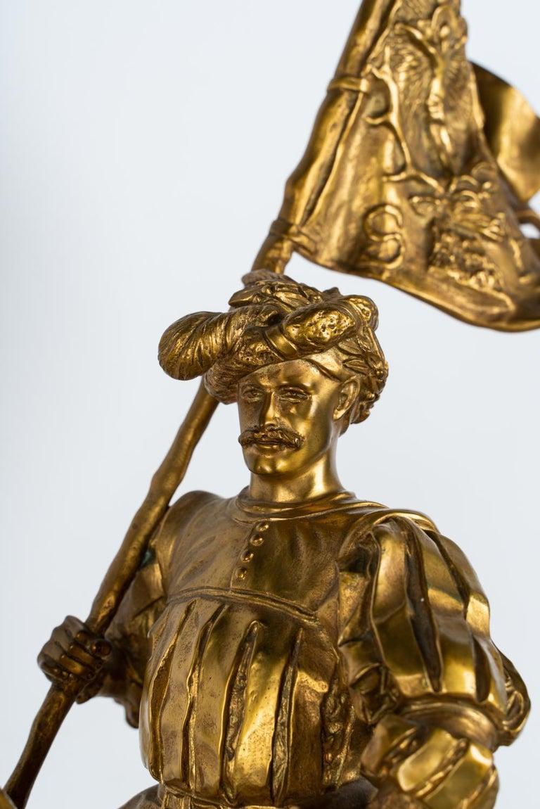 19th Century Gilt Bronze by Emmanuel Fremiet For Sale 4
