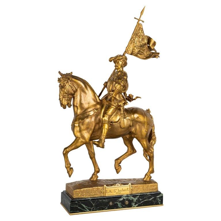 19th Century Gilt Bronze by Emmanuel Fremiet For Sale