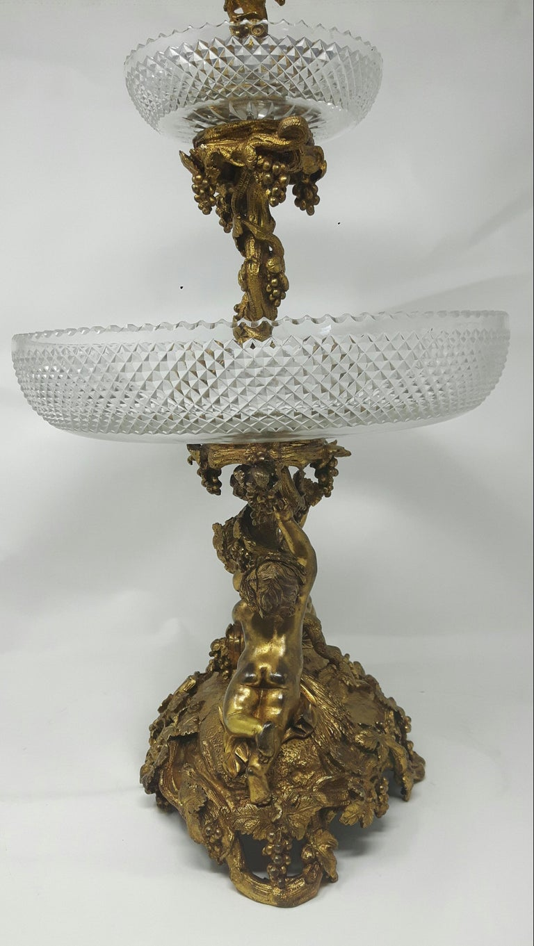 French 19th Century Gilt Bronze Centrepiece For Sale