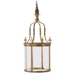 19th Century Gilt Bronze Hall Lantern