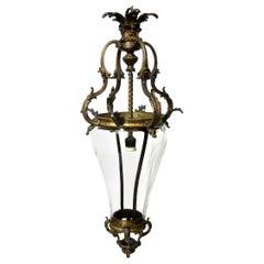 19th Century Gilt Bronze Lantern