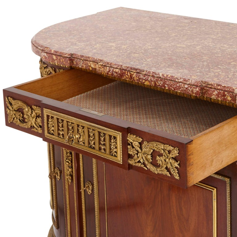 19th Century Gilt Bronze, Mahogany and Marble Cabinet by Dasson For Sale 2