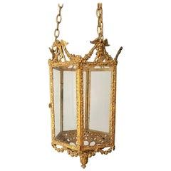 19th Century Gilt Lantern