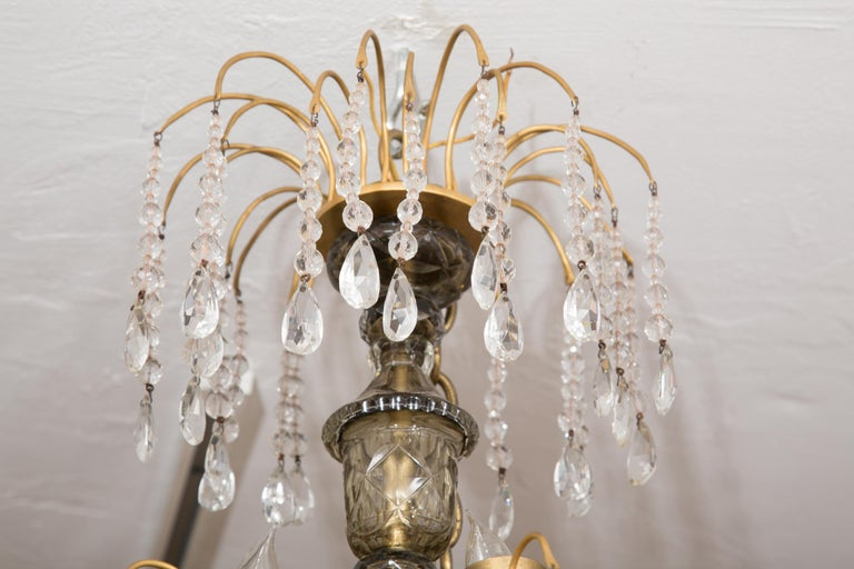 19th Century Gilt Metal and Crystal Baltic Chandelier 2