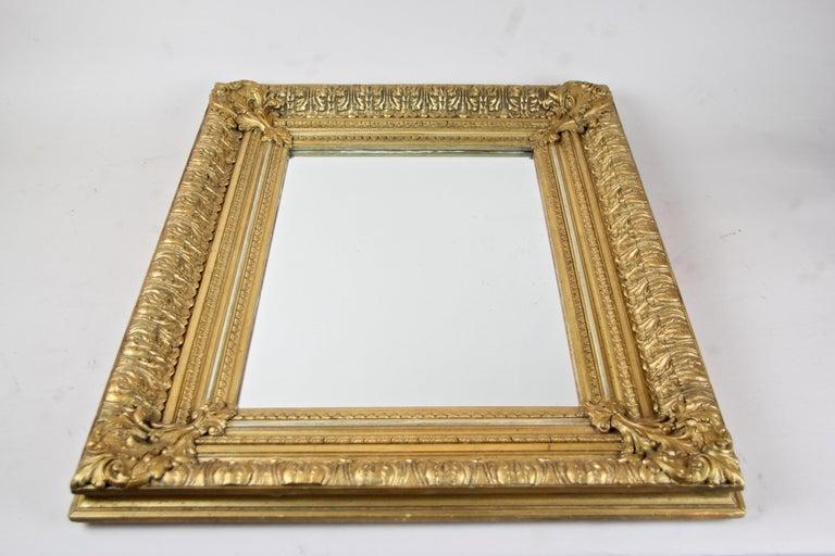 Biedermeier 19th Century Gilt Mirror, Austria, circa 1860 For Sale