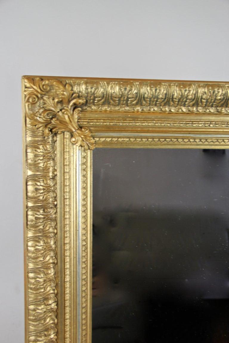 Austrian 19th Century Gilt Mirror, Austria, circa 1860 For Sale
