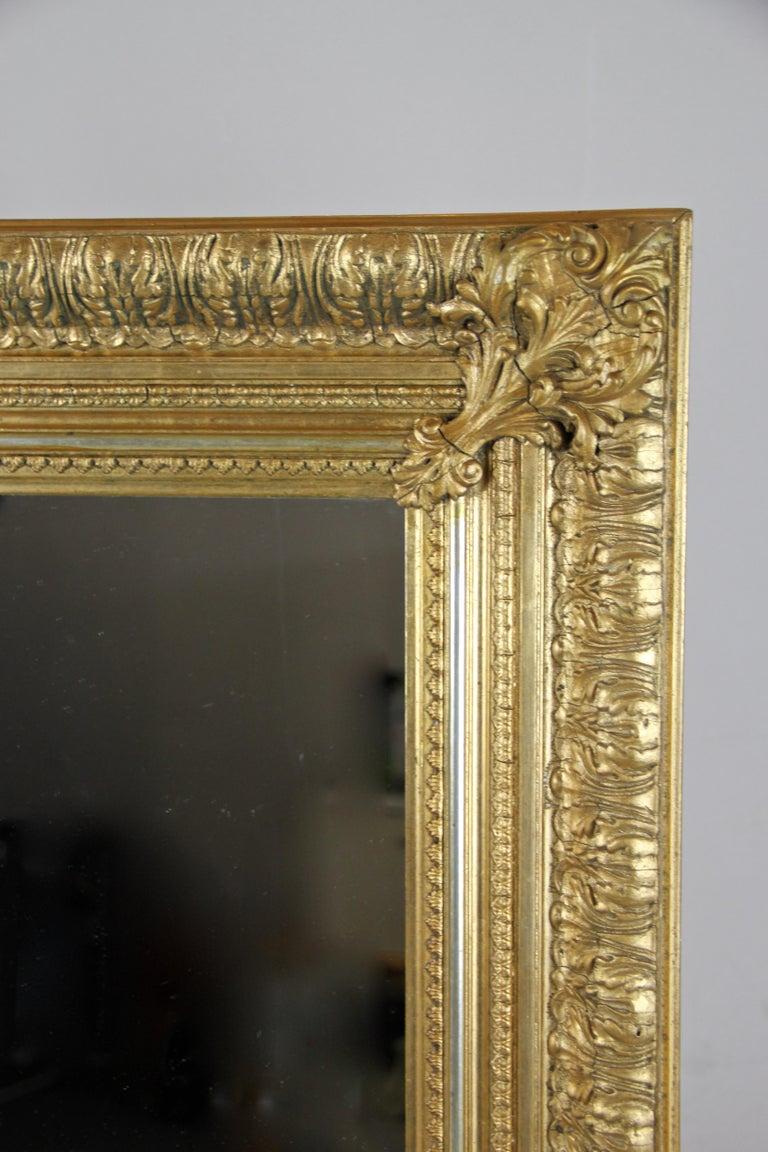 Stucco 19th Century Gilt Mirror, Austria, circa 1860 For Sale