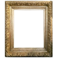 19th Century Giltwood and Gesso Frame