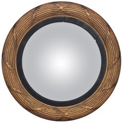 19th Century Giltwood Convex Mirror