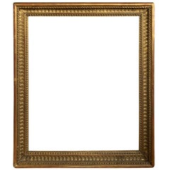 19th Century Giltwood Frame with Old Labels