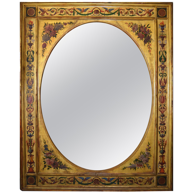 19th Century Giltwood Italian Wall Mirror