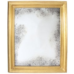 19th Century Giltwood Mirror with Distressed Glass