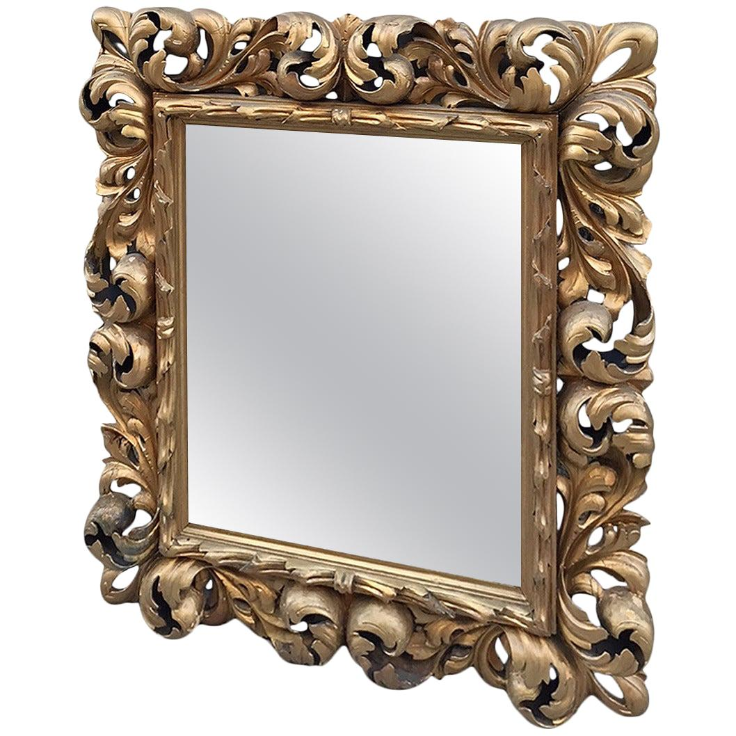 19th Century Giltwood Rococo Style Mirror