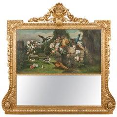 19th Century Giltwood Trumeau Mirror