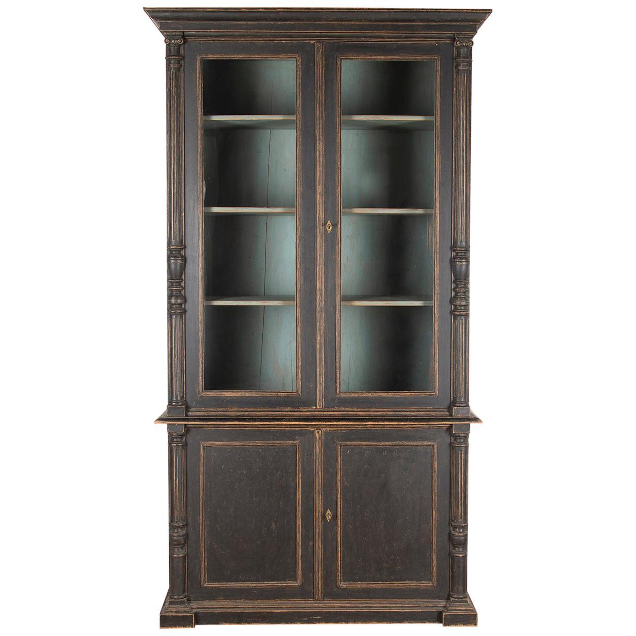 19th Century Glaze Bookcase