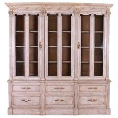 19th Century Glazed and Painted Flemish Bookcase