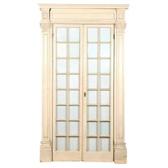 19th Century Glazed Doors in Decorative Surround