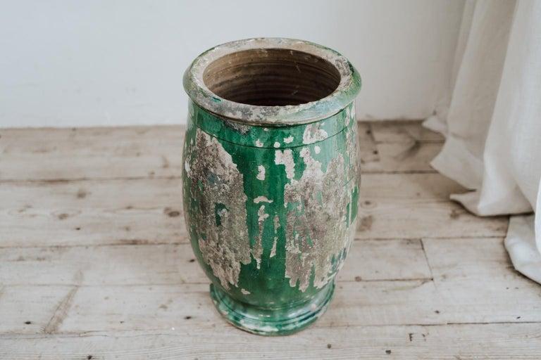 French 19th Century Glazed Terracotta Castelnaudary Vase/Jardinière/Planter For Sale