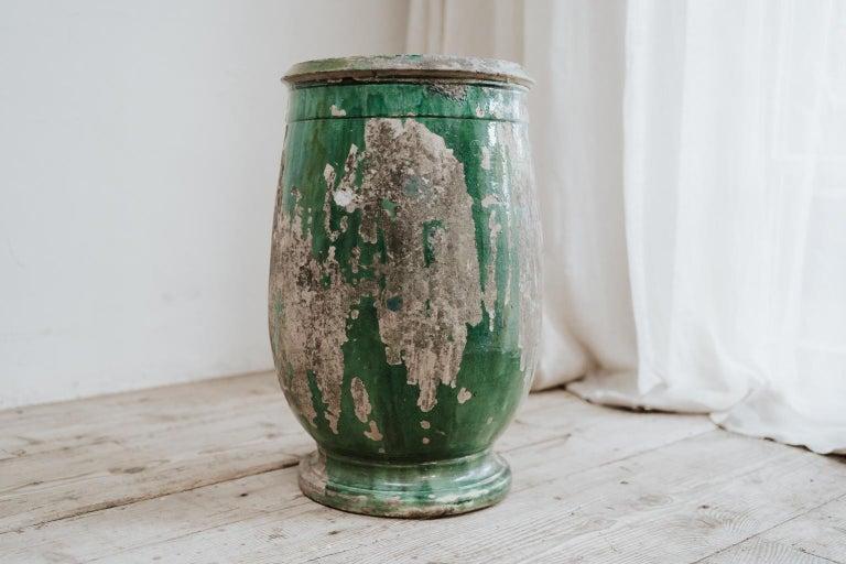 19th Century Glazed Terracotta Castelnaudary Vase/Jardinière/Planter For Sale 2