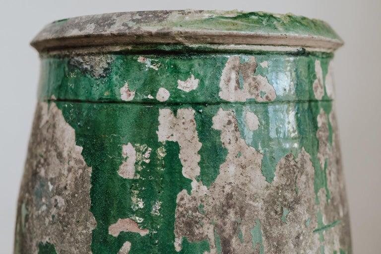 19th Century Glazed Terracotta Castelnaudary Vase/Jardinière/Planter For Sale 3