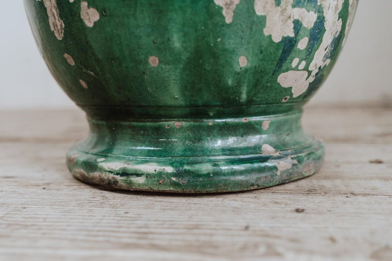 19th Century Glazed Terracotta Castelnaudary Vase/Jardinière/Planter For Sale 4